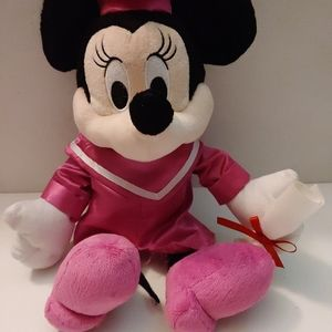 Disney Graduation Minnie Mouse In Pink Cap And Gow